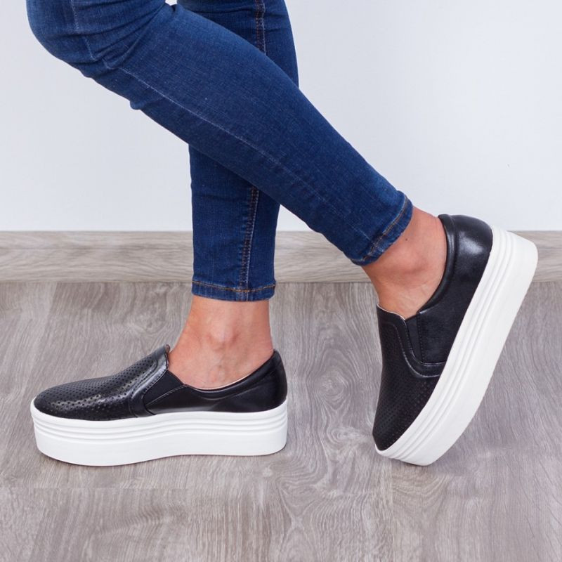 "Espadrile ""MireaFashion"" Cod: JY02 Black(NN5)"