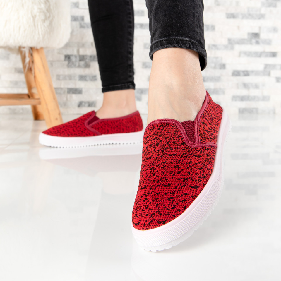 "Espadrile ""MireaFashion"" Cod: K16 WINE (i2-3)"