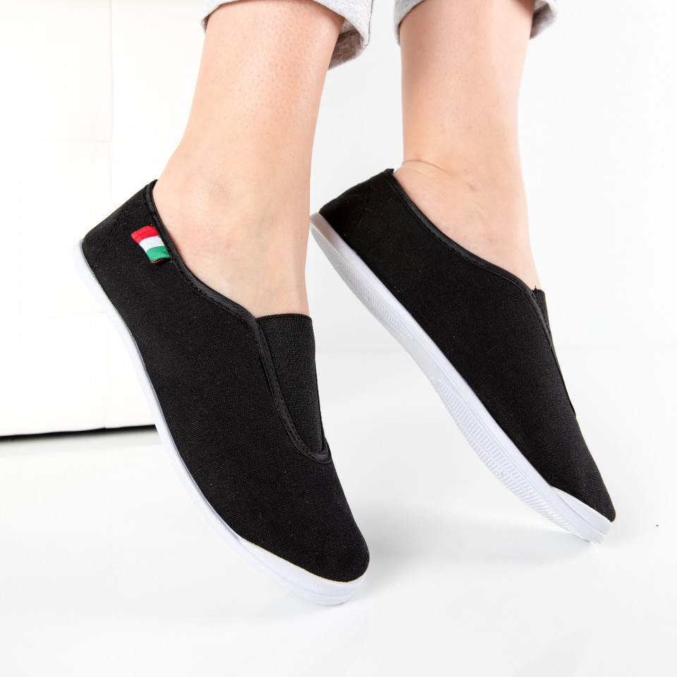 "Espadrile ""MireaFashion"" Cod: T102 BLACK (C16)"