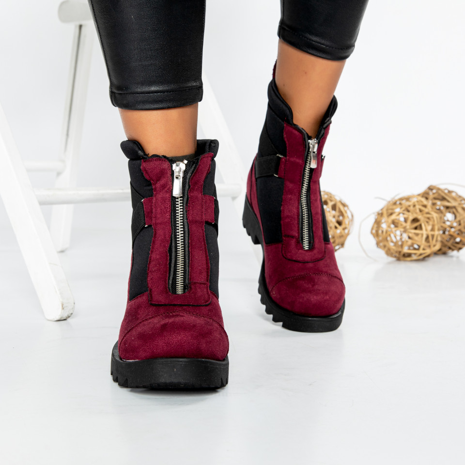 "Ghete ""MireaFashion"" cod: 600-A BORDO (BB1-2)"