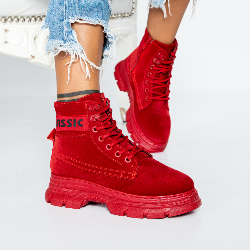 "Ghete ""MireaFashion"" cod: BF-002 RED (S10)"