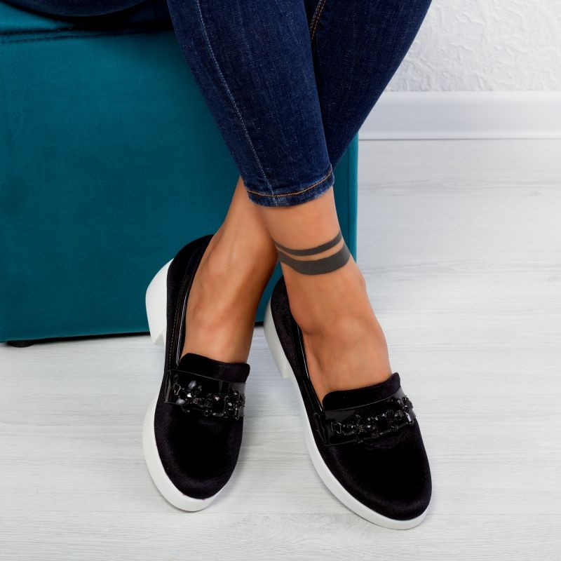 "Pantofi ""MireaFashion"" Cod: JY12 Black (Q1)"