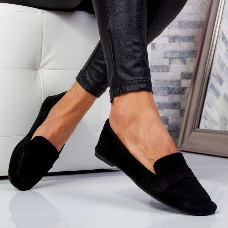 "Pantofi ""MireaFashion"" Cod: WH1929 BLACK (N7-8)"