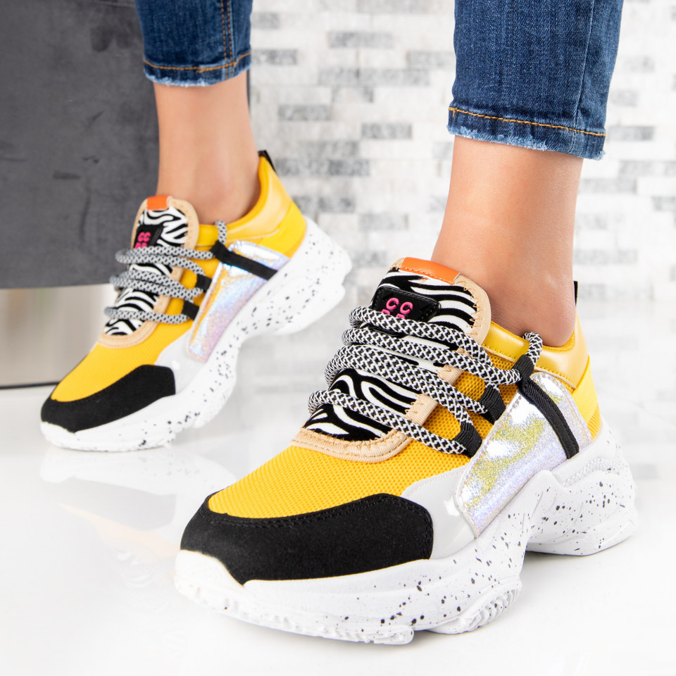 "Pantofi Sport ""MireaFashion"" Cod: ABC-303 YELLOW (N16)"
