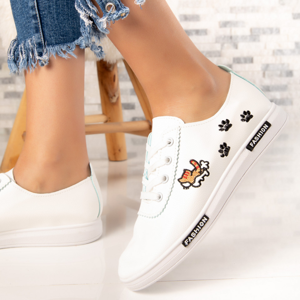 "Pantofi Sport ""MireaFashion"" Cod: HQ-18 WHITE/BLACK (K6)"