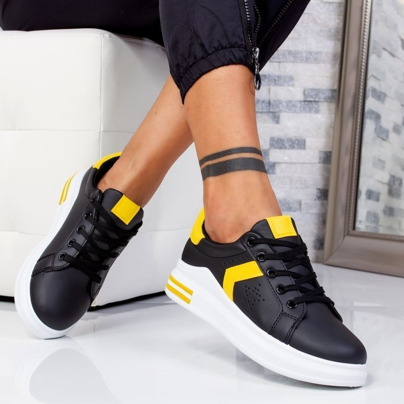 "Pantofi Sport ""MireaFashion"" Cod: J1828 BLACK/YELLOW (J1)"