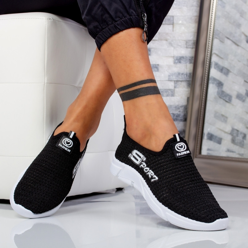 "Pantofi sport""MireaFashion"" Cod: NW-223 BLACK (A19)"