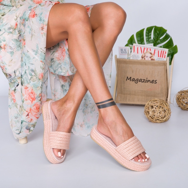 """Papuci """"MireaFashion"""" Cod: HY9349 PINK (A11)"""