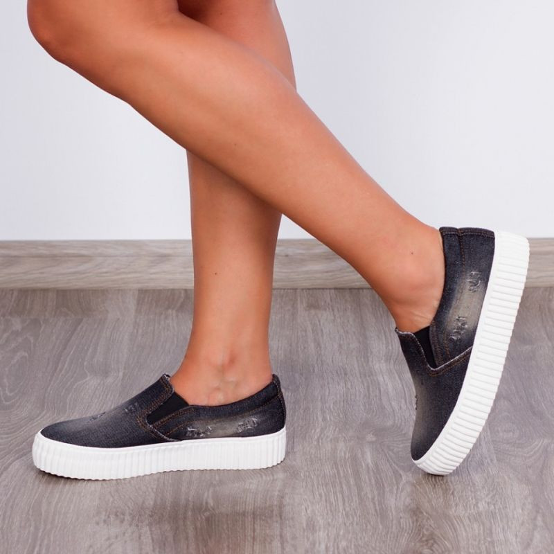 "Espadrile ""MireaFashion"" Cod: 156 Black(PP1)"