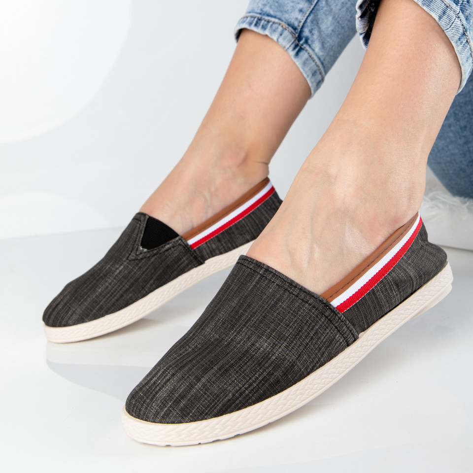 "Espadrile ""MireaFashion"" Cod: 347 BLACK (O11-12)"