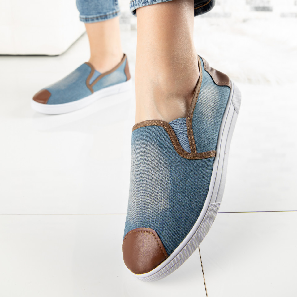 "Espadrile ""MireaFashion"" Cod: 868 JEANS (L5)"