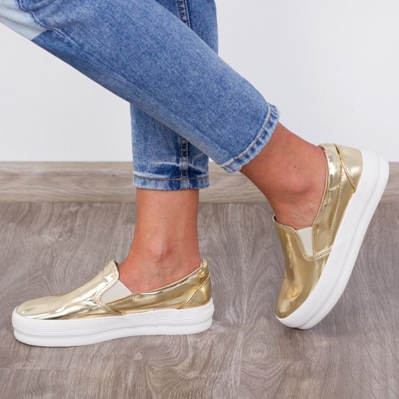 "Espadrile ""MireaFashion"" Cod: R-200 Gold (NN5)"