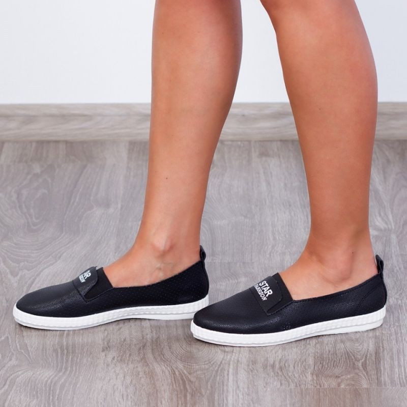"Espadrile ""MireaFashion"" Cod R-313 Black (K5)"