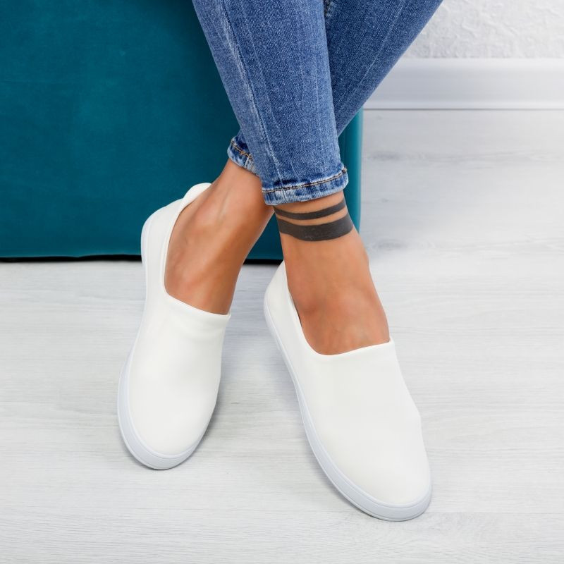 "Espadrile ""MireaFashion"" Cod: XJ-2482 WHITE (HH2-4)"