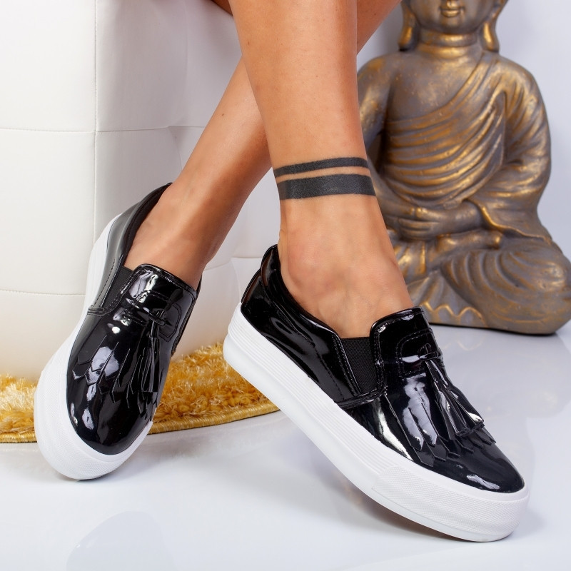 "Espadrile ""MireaFashion"" Cod: Z-3 Black (i 15)"