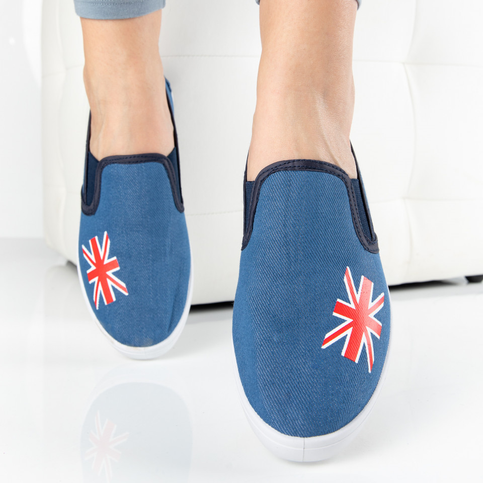 "Espadrile ""MireaFashion"" Cod: ZJ-18 L.BLUE (H12)"