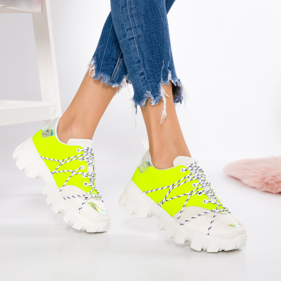 "Pantofi Sport ""MireaFashion"" Cod: 2019-365 YELLOW (Q5)"