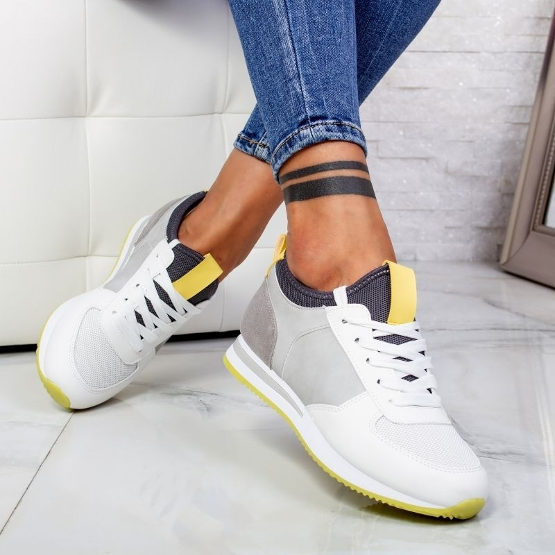 "Pantofi Sport ""MireaFashion"" Cod: 5205 WHITE (AA29)"