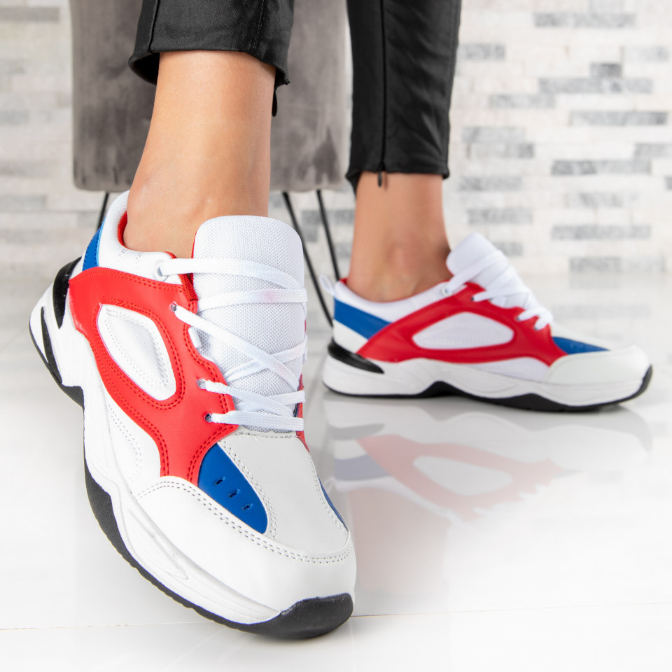 "Pantofi Sport ""MireaFashion"" Cod: A-05 WHITE/RED (Q14)"