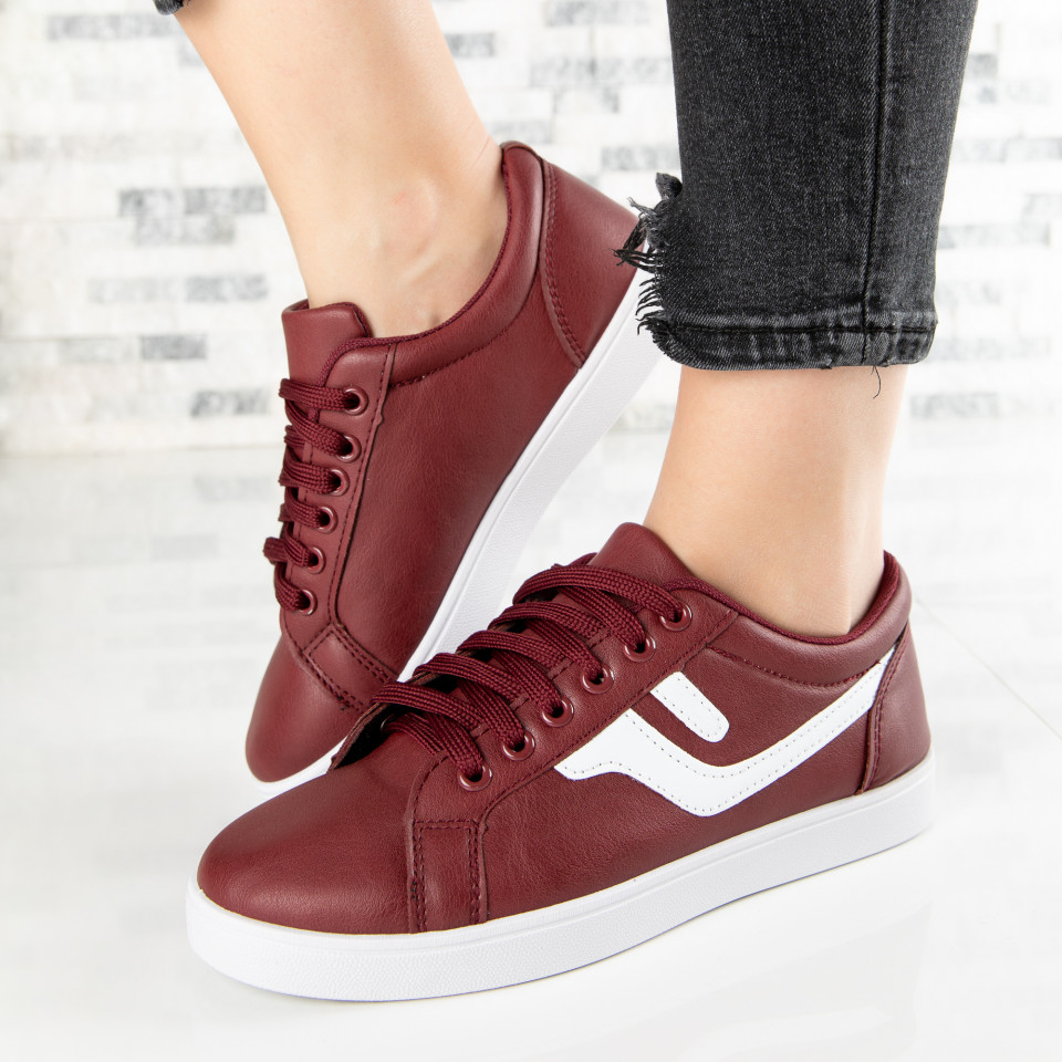 "Pantofi Sport ""MireaFashion"" Cod: A1810-4 WINE RED (G1)"