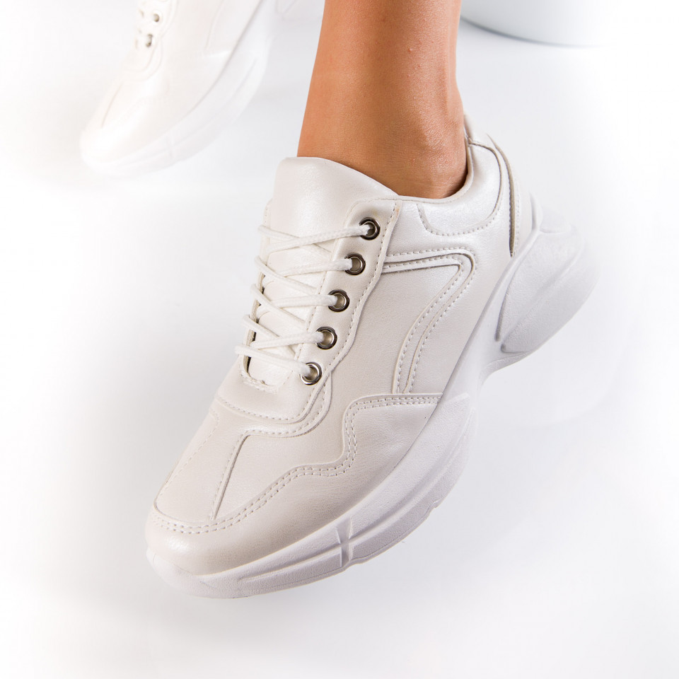 "Pantofi Sport ""MireaFashion"" Cod: D707 WHITE (C14)"