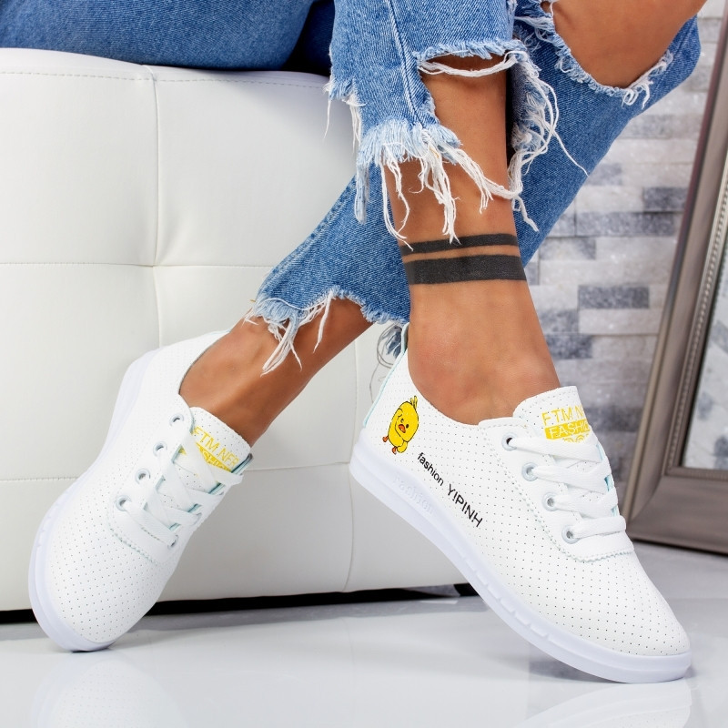 "Pantofi Sport ""MireaFashion"" Cod: F-1 WHITE (AA36)"