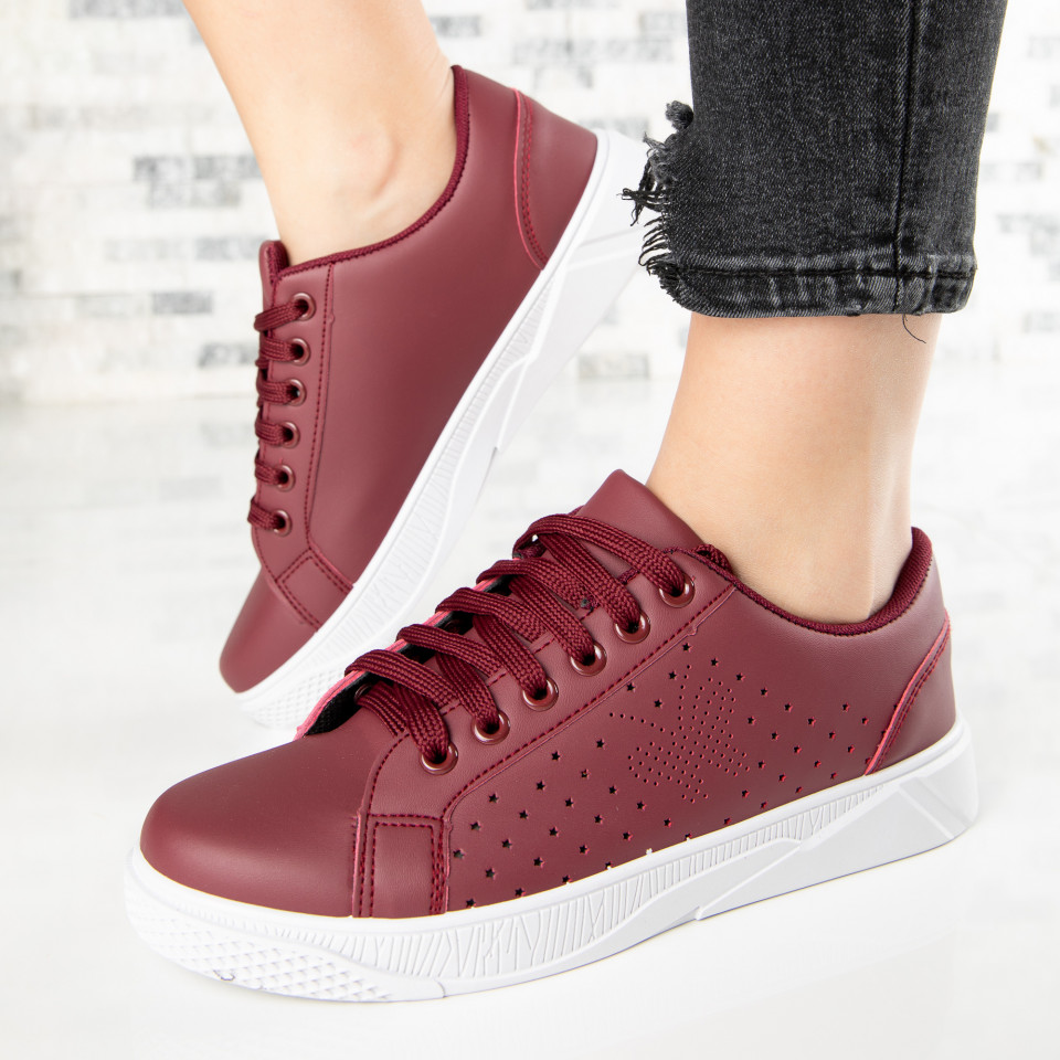 "Pantofi Sport ""MireaFashion"" Cod: F1826-4 WINE RED (i1)"