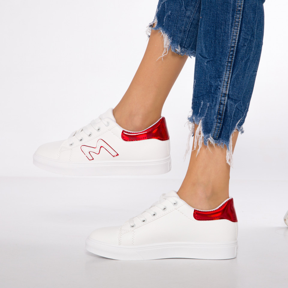 "Pantofi Sport ""MireaFashion"" Cod: HQ-D17 WHITE/RED (N14)"