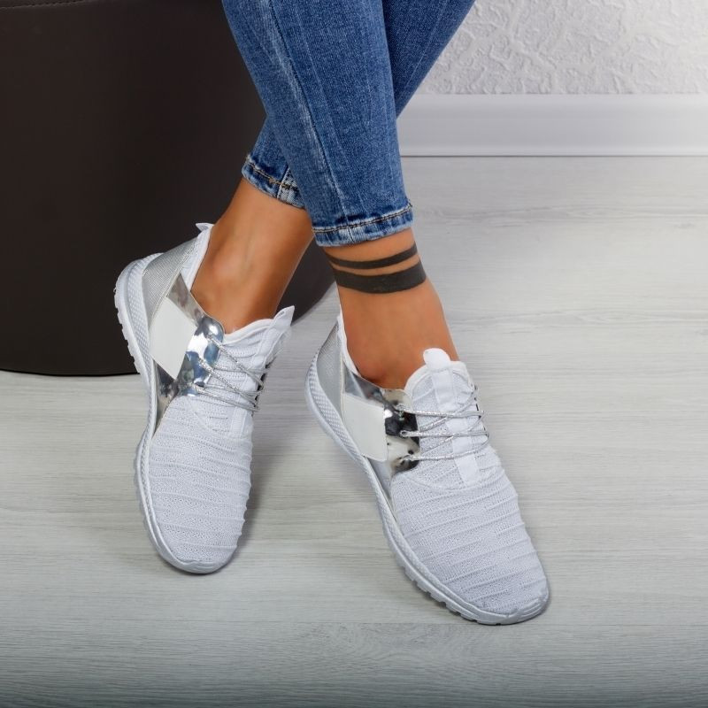 "Pantofi Sport ""MireaFashion"" Cod: J1801 WHITE (A31)"
