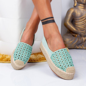 "Espadrile ""MireaFashion"" Cod: 8716 GREEN (R2)"