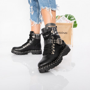 "Ghete ""MireaFashion"" cod: H0067-1 BLACK (H3)"