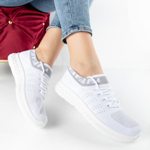 "Pantofi Sport ""MireaFashion"" Cod: 81083-2 WHITE (C1)"