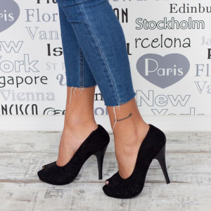 "Sandale ""MireaFashion"" Cod: A108-BLACK (E1)"