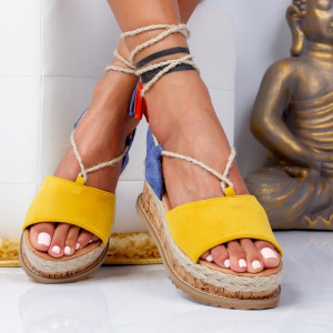 "Sandale ""MireaFashion"" Cod: H8-186 YELLOW (i11-12)"