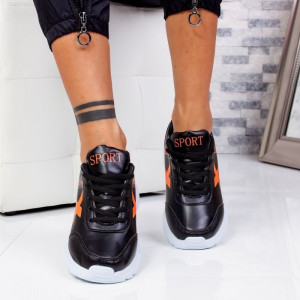 "Pantofi Sport ""MireaFashion"" Cod: 320 BLACK/ORANGE (S6-7)"