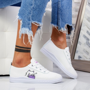 "Pantofi Sport ""MireaFashion"" Cod: F-2 WHITE/VIOLET (F3)"
