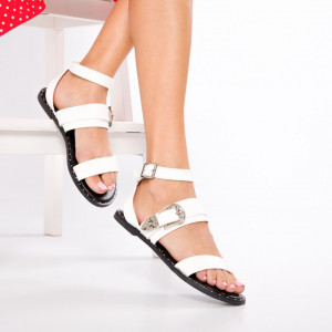 "Sandale ""MireaFashion"" Cod: 8336-1 WHITE (CC5)"