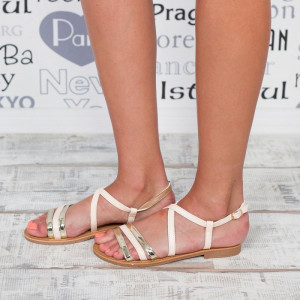 "Sandale ""MireaFashion"" Cod: F-03 BEIGE (AA17)"