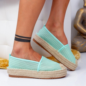 "Espadrile ""MireaFashion"" Cod: 00121 GREEN (C3)"