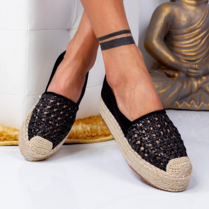 "Espadrile ""MireaFashion"" Cod: 8716 BLACK (Q12)"