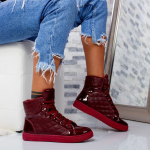 "Ghete Sport ""MireaFashion"" Cod: AN9780 Wine Red (i2)"