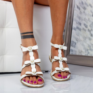 "Sandale ""Mirea Fashion"" Cod: 716-1 White (P2)"