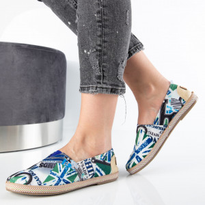 "Espadrile ""MireaFashion"" Cod: 319 BLUE (J1)"