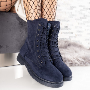 "Ghete ""MireaFashion"" Cod: FB0033 NAVY (R14)"