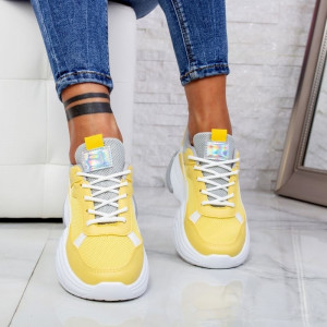 "Pantofi Sport ""MireaFashion"" Cod: ABC-315 YELLOW (K14-15)"