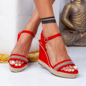 "Sandale ""MireaFashion"" Cod: F-3785 RED (H13)"