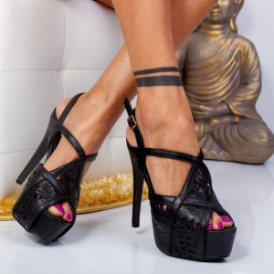 "Sandale ""MireaFashion"" Cod: LBS2181 BLACK (G10)"