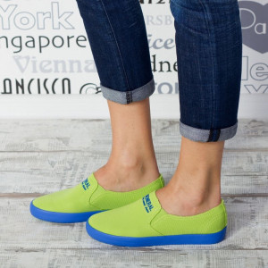 "Espadrile ""MireaFashion"" Cod: C131 APPLE GREEN( D 6)"