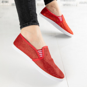 "Espadrile ""MireaFashion"" Cod: ZJ-21 RED (P2)"