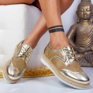 "Pantofi ""MireaFashion"" Cod: 7-889 GOLD ( H3)"